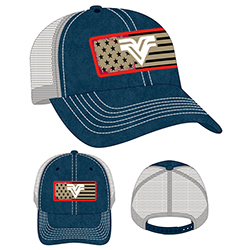 STRUCTURED 4TH OF JULY FLAG CAP