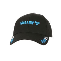 VALLEY BLACK 6 PANEL STRUCTURED CAP